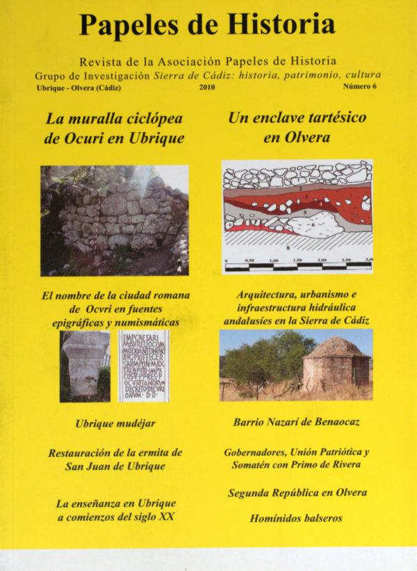 Papeles de Historia nº 6