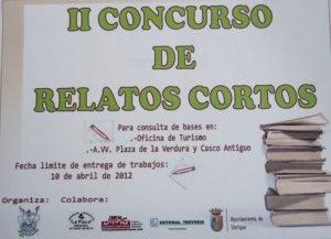 Cartel anunciador del II Concurso de Relatos Cortos.