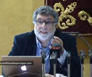 Luis García Bravo, en la presentación de su libro en San Roque.