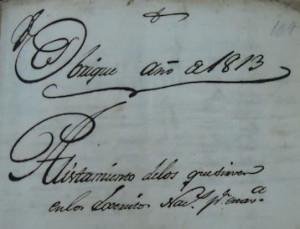 Documento del Archivo Histórico Municipal.
