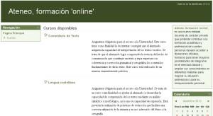 Captura de la plataforma online.