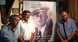 Los autores del libro, José Luis López Morales, Antonio Morales Benítez y Bartolomé Pérez Sánchez de Medina.