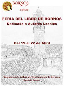 Cartel de la Feria del Libro de Bornos.
