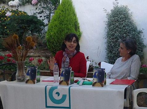 Natalia Viaga y Mª Carmen López.