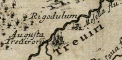 Augusta Treverorum en Notitia Orbis Antiqui, 1701