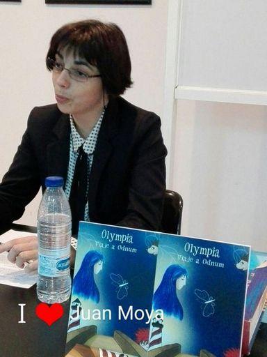 Natalia Viaga, durante la presentación de su novela en Algeciras.