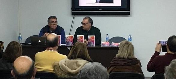 Luis García Bravo y Juan Emilio Ríos, durante la presentación del libro en Ronda.