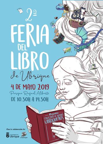 Editorial Tréveris exhibe sus últimas novedades en la 2ª Feria del Libro de Ubrique el sábado 4 de mayo de 2019 en el Parque Rafael Alberti