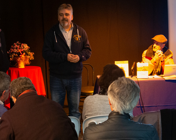 Diego Borrego, durante la presentación del acto.