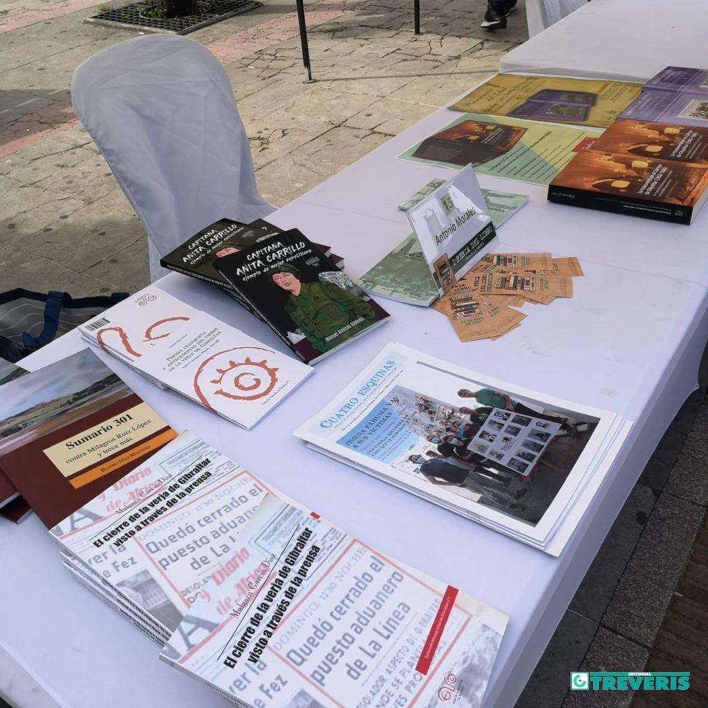 Publicaciones editadas y/o distribuidas por Editorial Tréveris, en la Feria del Libro de Los Barrios.