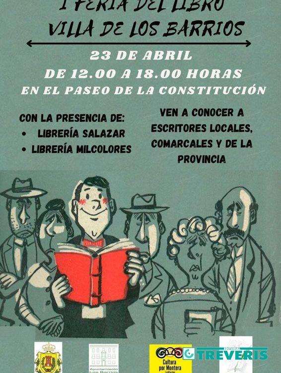 Cartel de la Feria del Libro de Los Barrios.