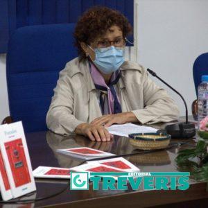 Antonia Toscano, en la presentación de su libro.